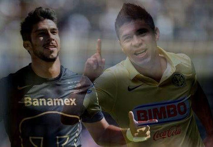 Pumas y América protagonizarán el mejor duelo de los cuartos de final en la Liguilla del Apertura 2014. (Mexsport)