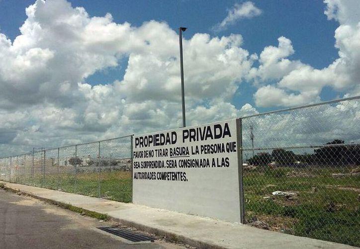 Predio ubicado en la colonia Paraíso Maya, el cual fue limpiado y cercado. (Milenio Novedades)