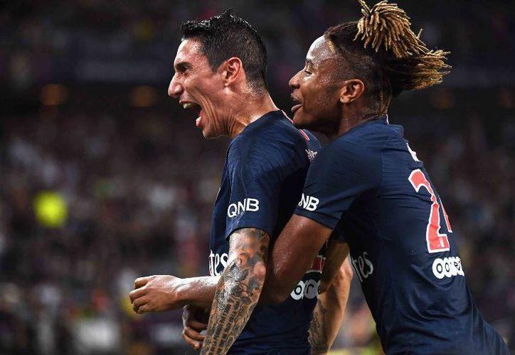 El PSG, aún sin el campeón mundial Mbappe y que decidió dejar a Neymar en el banquillo hasta el minuto 75. (AFP)