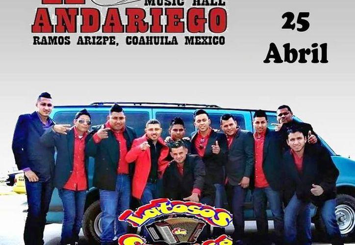 Imagen de la publicidad de la presentación donde el grupo se presentaría antes de la tragedia. (Imagen tomada del Facebook de Latosos de colombia)