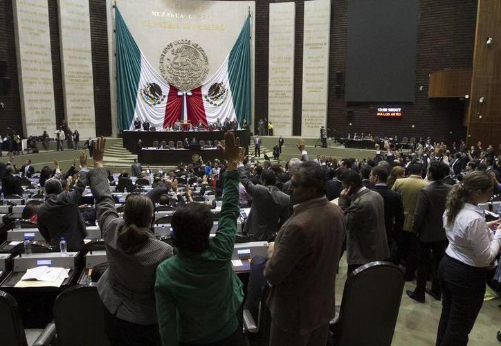 Salón de plenos en Sesión ordinaria en la Cámara de Diputados. (Notimex)