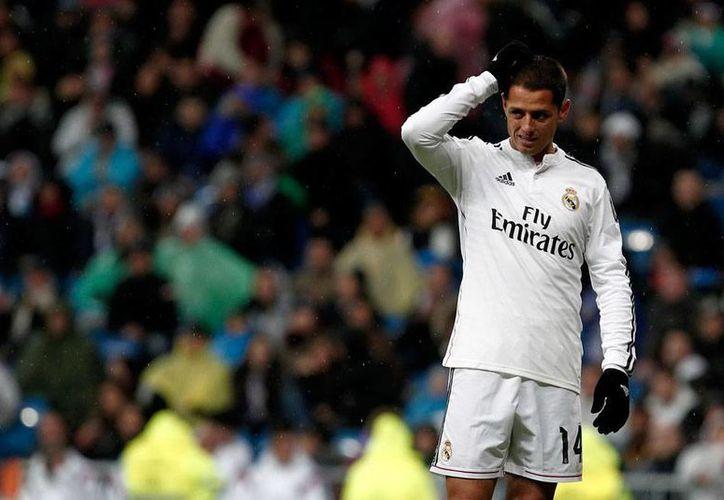 Javier 'Chicharito' Hernández dice que está descontento y se siente frustrado con su situación en el Real Madrid, en el que ha tenido pocos minutos como titular. (NTX/Archivo)