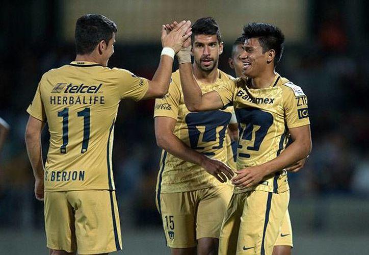 Pumas avanzó a la siguiente ronda de la Concachampions, en donde se enfrentará a los Tigres de Ricardo Ferretti.(Foto tomada de Facebook/Pumas)