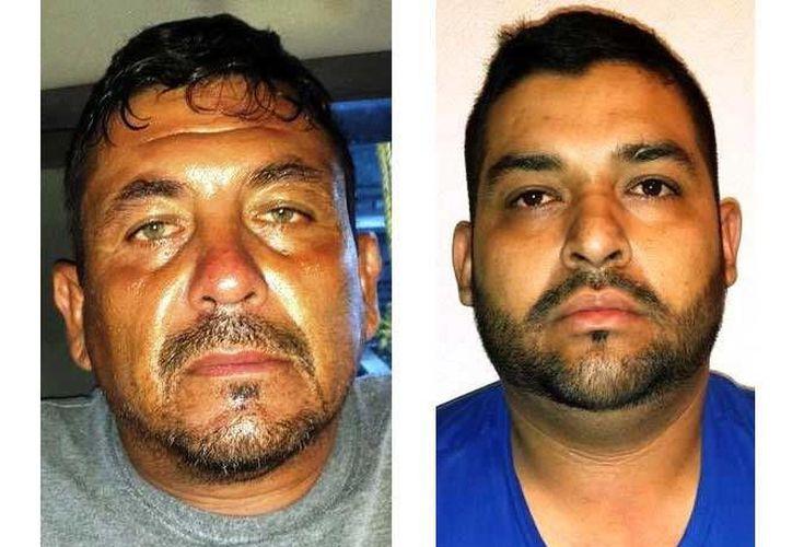 """Miguel Ángel Cuéllar Meza y Juan Antonio Orona Morales, colaboradores de """"El Gafe"""", fueron detenidos este viernes por la Fuerza Tamaulipas. (Excélsior)"""