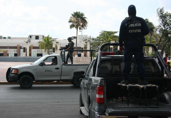 Combaten los delitos de alto impacto y los delitos comunes en este municipio. (Adrián  Barreto/SIPSE)