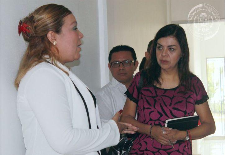 La directora del Centro de Justicia para la Mujer se reunió con la secretaria de Desarrollo Social. (Cortesía)