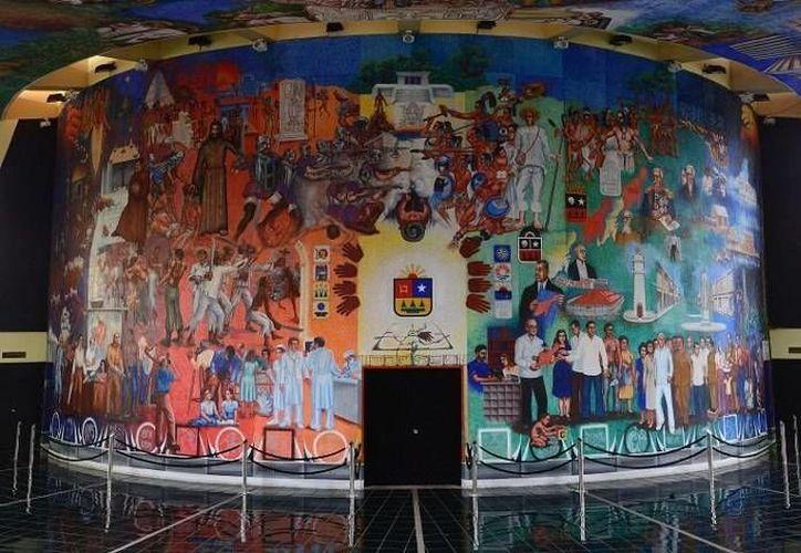Los murales del Congreso representan uno de los tesoros culturales de la entidad. (Redacción/SIPSE)