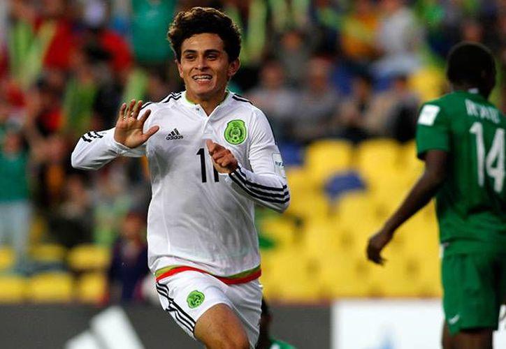 El mexicano Diego Cortés hizo un gol en el Mundial sub-17 que hizo recordar a otro Diego, Maradona, por su bella manufactura. (excelsior.com.mx)