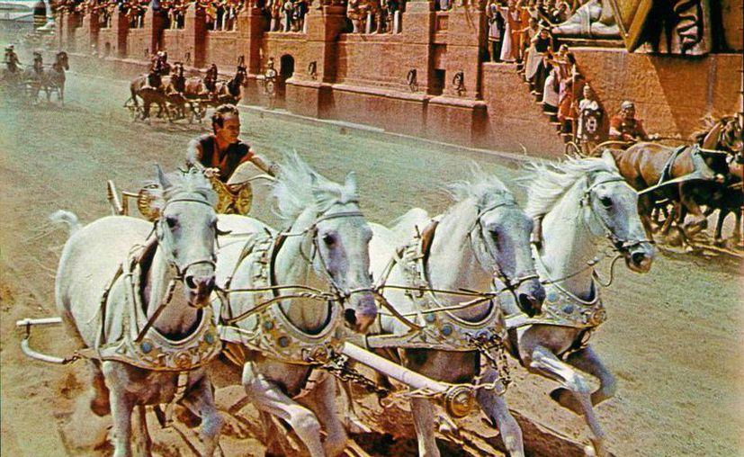 Ben Hur, que vio la luz en 1959, aún se sostiene entre las 3 películas más ganadoras de premios Oscar de todos los tiempos. (film.com)