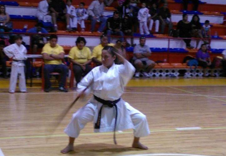Los karatecas benitojuarenses logran cinco medallas de oro en el Primer Torneo Abierto de Ioko 2014. (Raúl Caballero/SIPSE)