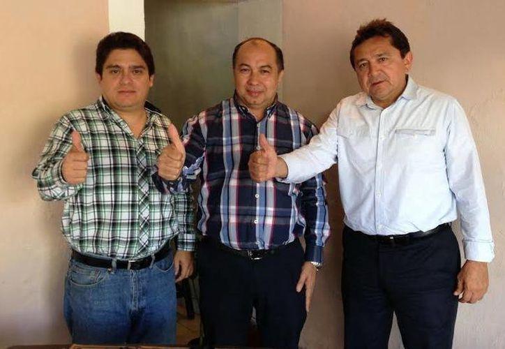 Fernando Rojas Zavala, Luis Canto García y Felipe Duarte forman un frente común. (Milenio Novedades)