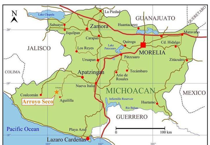 Michoacán colinda con los estados de Guanajuato, Querétaro, Hidalgo, Jalisco, Colima, Estado de México y Guerrero.(edrsilver.com)