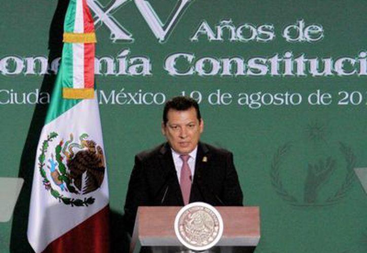 El ómbudsman Raúl Plascencia Villanueva indicó que con el respeto a los derechos humanos se podrá alcanzar el ideal del Estado de derecho. (Notimex)