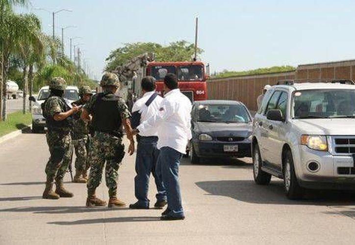 El Ejército arribó a la zona del hallazgo desde las siete de la mañana. (Milenio)