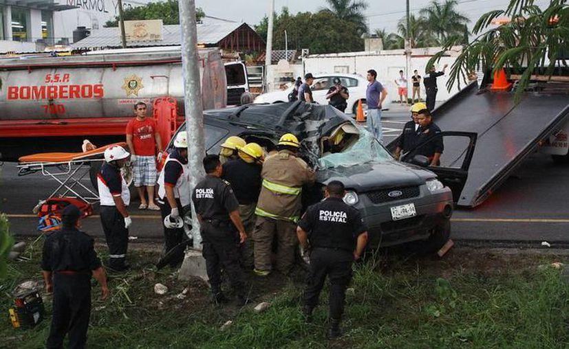 Es alto el número de accidentes viales en Periférico. (Imagen de archivo)