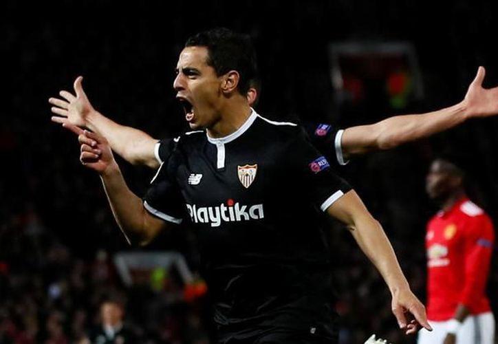 Ben Yedder celebra uno de sus dos goles. (Reuters)