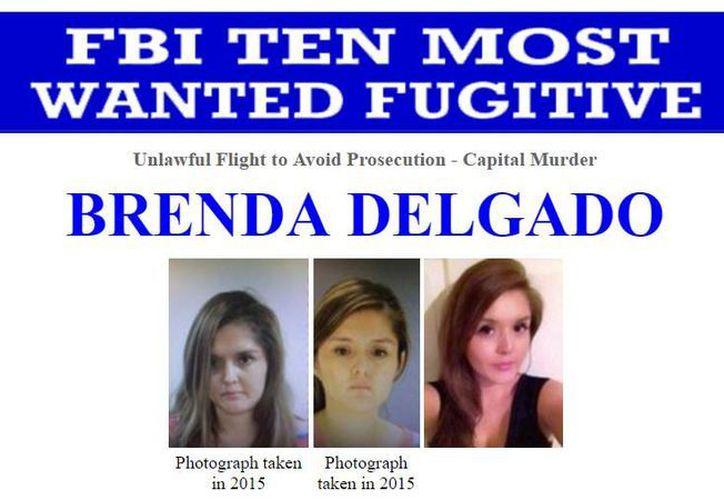 El FBI incluyó en su lista de los fugitivos más buscados a la mexicana Brenda Delgado (captura de pantalla de interpol.int)