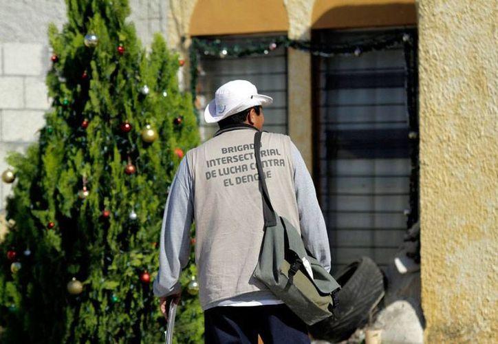 Yucatán es un ejemplo nacional en estrategias para el control del dengue. En la imagen, un trabajador de la Secretaría de Salud durante un operativo contra el dengue. (Archivo/SIPSE)