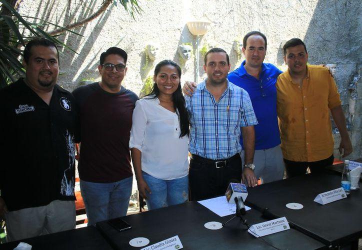 Se realizó una rueda de prensa para presentar el evento deportivo. (Raúl Caballero/SIPSE)