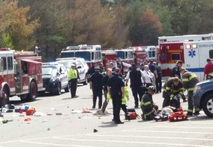 El Canal WBZ-TV informó que la Policía Estatal de Massachusetts está investigando si se trató de un acto de terrorismo. (Infobae)