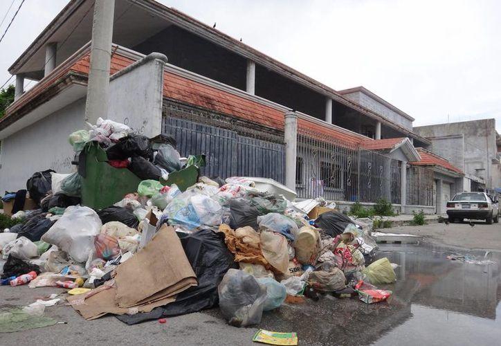 Setasa disminuyó el número de camiones de recolección, pasando de 36 a tan sólo ocho, situación que colapsó el servicio de recolección en toda la ciudad. (Israel Leal/SIPSE)