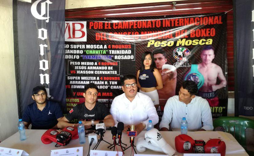 La conferencia de prensa fue encabezada por Oscar Bermúdez Montufar. (Miguel Maldonado/SIPSE)