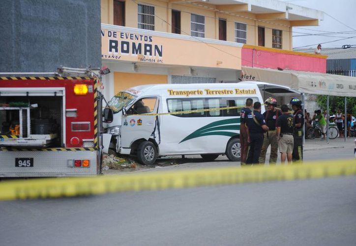 El accidente se registró en la mañana del pasado jueves. (Eric Galindo/SIPSE)