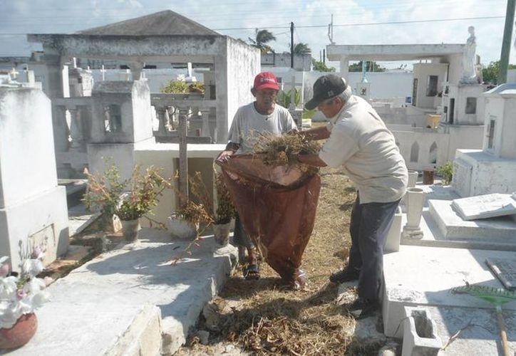 Poca gente visita los cementerios en Progreso. (Milenio Novedades)
