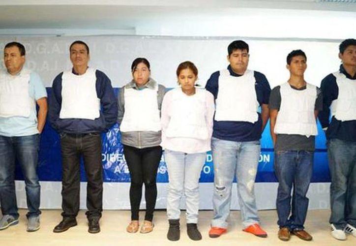 La Dgadai presentó a los plagiarios.en Puebla (Gabriela Martínez/Milenio)