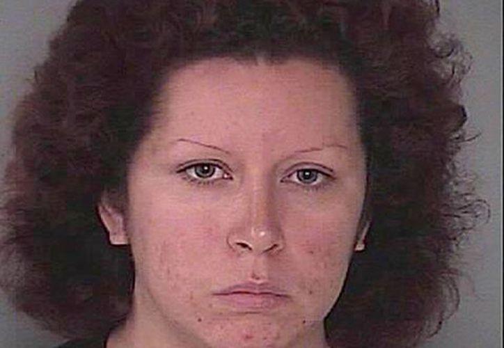 Oriana García en una imagen cortesía del Departamento de Policía de Hagerstown, Maryland. García, su hermano y su novio están acusados de abuso infantil premeditado por la muerte a golpes del hijo de ella de 9 años. (Hagerstown Department of Police via AP)