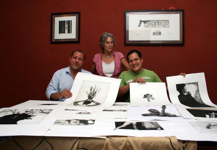 """Los artistas presentarán 21 grabados en la galería """"In la Kech"""", ubicada en el Centro Histórico de la ciudad. (SIPSE)"""