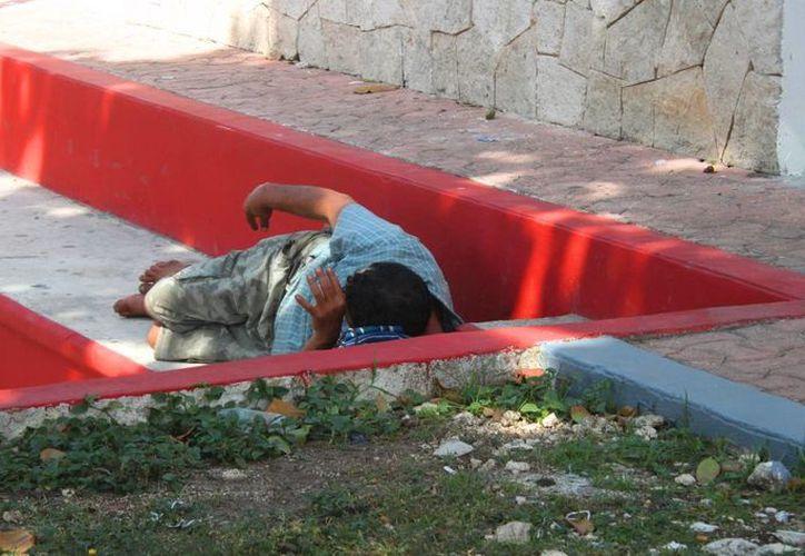 En la actual administración se han localizado 40 casos de personas sin hogar. (Fotos: Daniel Pacheco/ SIPSE)