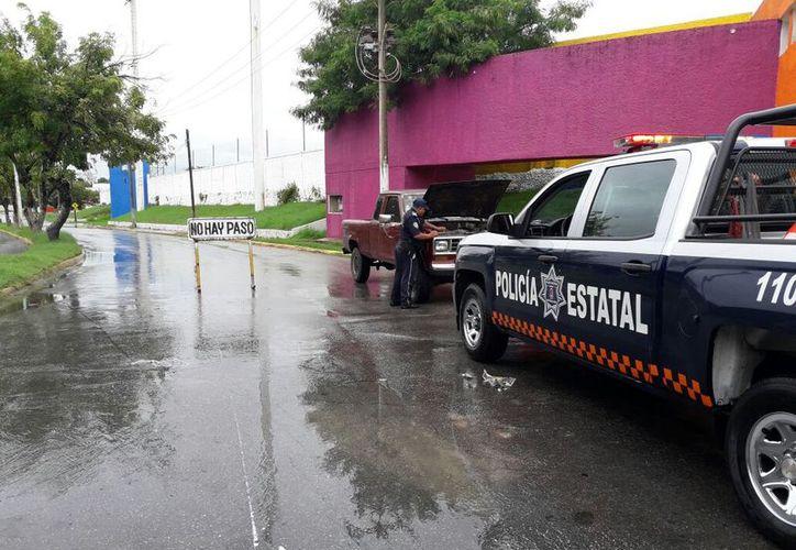 Fueron siete unidades de tránsito que participaron en el operativo con 30 elementos de vialidad. (Joel Zamora/SIPSE)