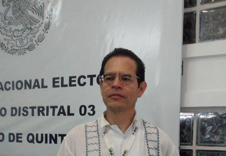 El vocal de la Junta Distrital Ejecutiva 03 en Benito Juárez del INE dijo que las campañas electorales iniciaron el 5 de abril. (Tomás Álvarez/SIPSE)
