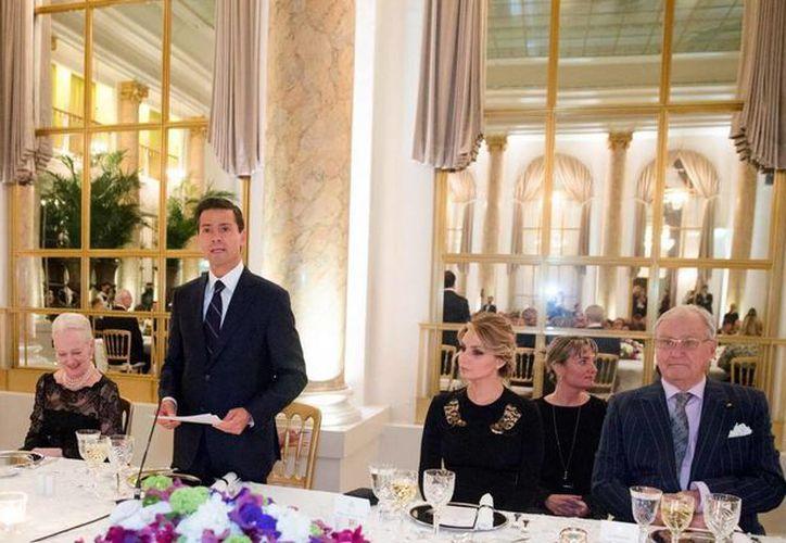 Peña Nieto destacó la voluntad de cooperación de Dinamarca con el gobierno mexicano. (Presidencia)