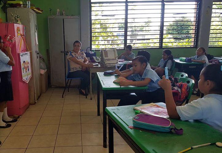 Ultiman detalles en escuelas públicas de nivel básico para el regreso a clases. (Foto: Milenio Novedades)