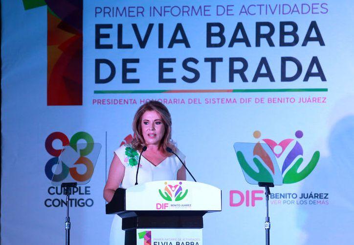 """La presidenta honoraria dijo que el DIF recibió, por primera vez en su historia, el distintivo """"México Sin Trabajo Infantil"""". (Cortesía)"""