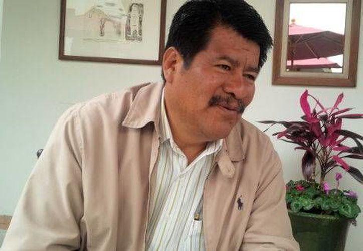 Joaquín Echeverría, dirigente de la sección 59 del SNTE, refrenda que este organismo sí está a favor de la Reforma Educativa sin paros. (Milenio)