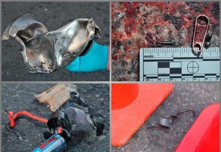 Los restos fueron encontraron en un techo en la zona del ataque. (Reuters)