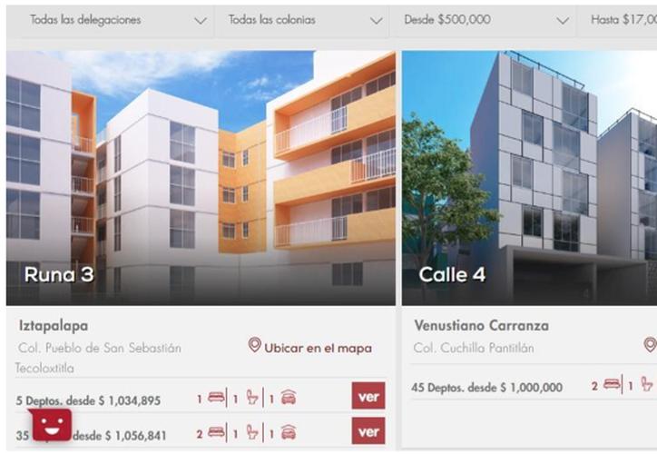 Captura de pantalla del portal Quiero Casa.
