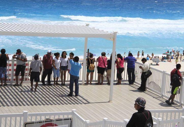 Más del 50% del turismo fue nacional. (Tomás Álvarez/SIPSE)