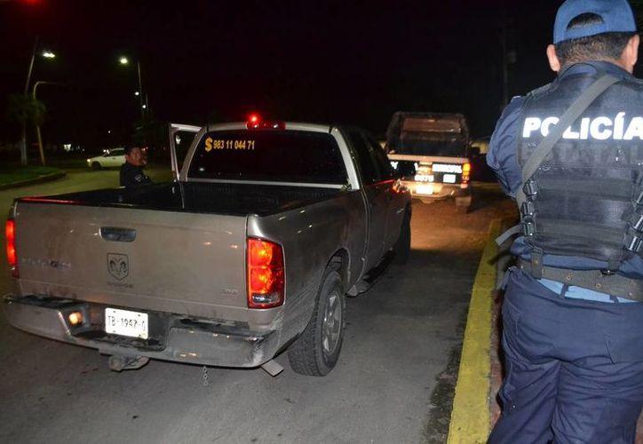 Policía Municipal implementó un operativo de búsqueda. (Redacción/SIPSE)
