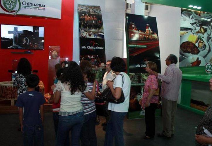 Chihuahua llevó impresionante stand a la Feria de San Marcos. (Facebook oficial)