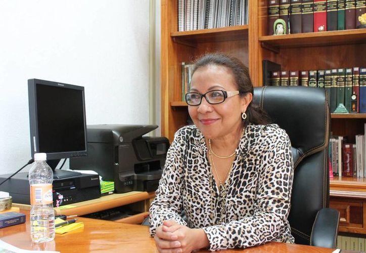 La magistrada de número, Norma María Loría Marín. (Ernesto Neveu/SIPSE)