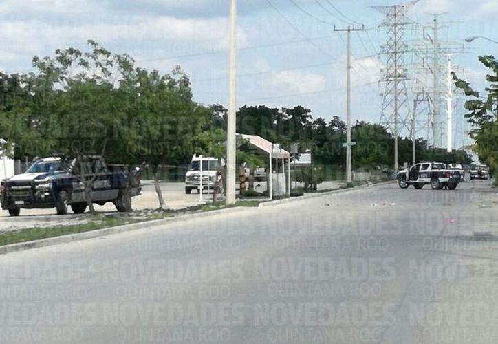 Ejecutan a una personas en Puerto Morelos. (Sergio Orozco).