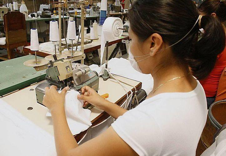 Consideran que los beneficios de la Cervecería repercutirán en otras ramas de la industria como las maquiladoras. Imagen de una mujer en una fábrica de ropa.(Milenio Novedades)