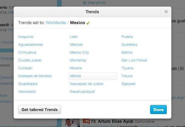Estas son las nuevas ciudades de México que pueden ver las tendencias del día. (Foto: Twitter)