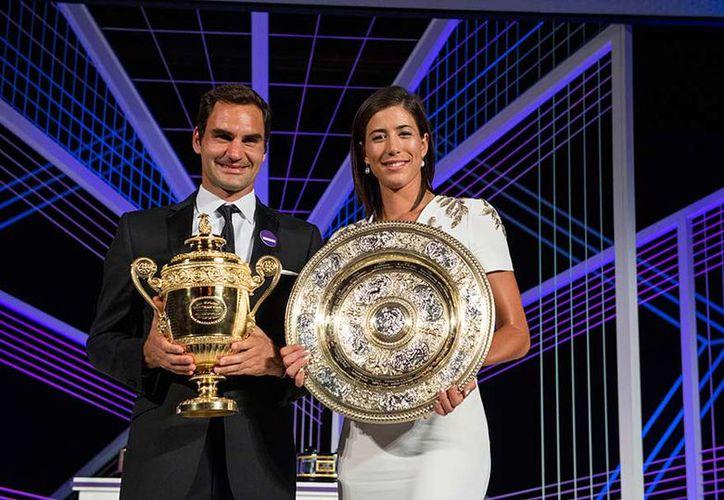 Federer subió al tercer puesto y Muguruza en el quinto. (AP)