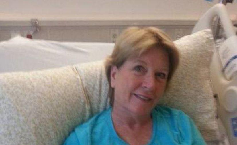 Imagen de Vicki Gardner, la mujer que era entrevistada cuando se suscitó el ataque a dos periodistas en Virginia. (twitter/@RachelDePompa)