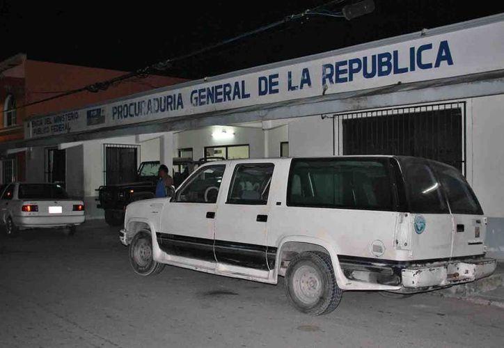 Los detenidos fueron remitidos ante el Ministerio Público Federal. (Julián Miranda/SIPSE)